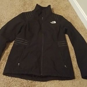 Northface Soft Shell Black Zip Up - Medium